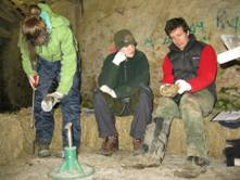 Students learning to trim hooves